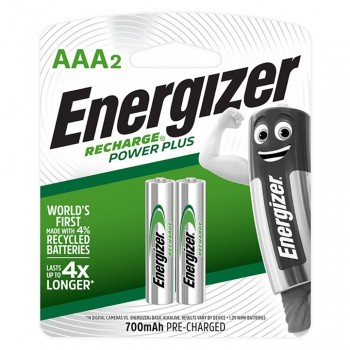 Energizer Power Plus AAA Rechargeable Batteries - 2-count - 700 mAh (Item No: B06-13) A1R2B226