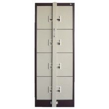 4 Drawer Filing Cabinet With Recess Handle & Locking Bar