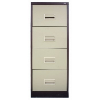4 Drawer Filing Cabinet With Recess Handle
