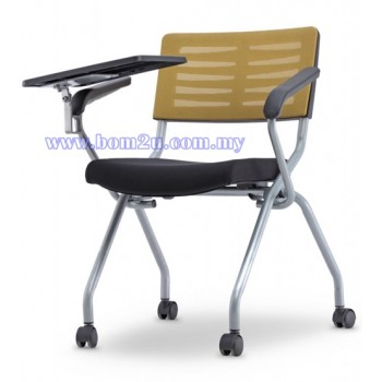 AXIS 2 Series Foldable Training Chair With Castor, Armrest & Writing Tablet (Mesh Series)