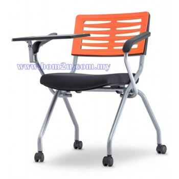 AXIS 2 Series Foldable Training Chair With Castor, Armrest & Writing Tablet (P.P. Shell)