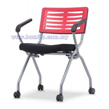 AXIS 2 Series Foldable Training Chair With Castor & Armrest  (P.P. Shell)