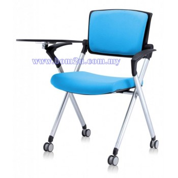 AXIS Series Foldable Training Chair With Castor, Armrest & Writing Tablet