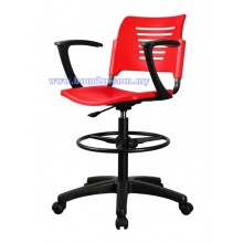 P2 Series Drafting Chair With Armrest & Roller Base