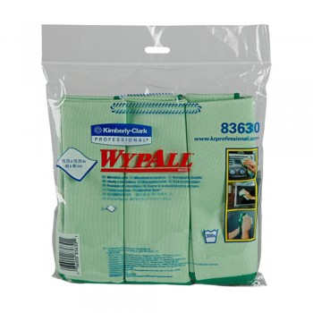 WYPALL Microfibre Cloths - Green x 6's/Pack