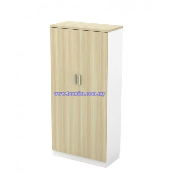 B-YD 17 Melamine Woodgrain 4 Levels Swing Door Medium Cabinet With Lock