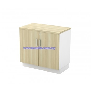B-YD 875/975 Melamine Woodgrain Table Height Swing Door Low Cabinet With Lock