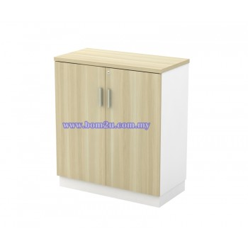 B-YD 9 Melamine Woodgrain Swing Door Low Cabinet With Lock