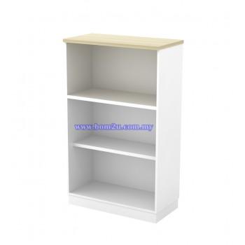 B-YO 13 Melamine Woodgrain 3 Levels Open Shelf Medium Cabinet