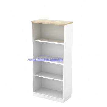 B-YO 17 Melamine Woodgrain 4 Levels Open Shelf Medium Cabinet