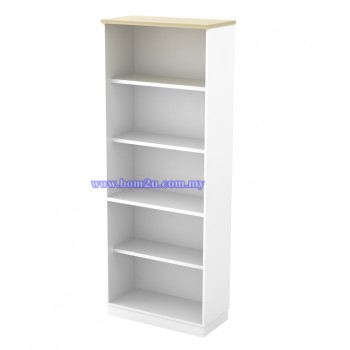 B-YO 21 Melamine Woodgrain 5 Levels Open Shelf High Cabinet