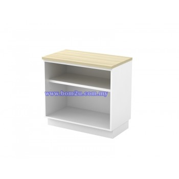 B-YO 875/975 Melamine Woodgrain Table Height Open Shelf Low Cabinet
