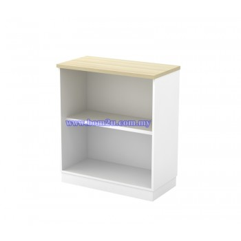 B-YO 9 Melamine Woodgrain Open Shelf Low Cabinet
