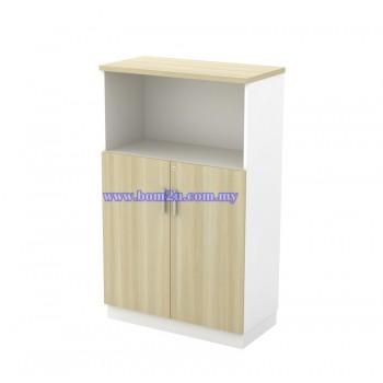 B-YOD 13 Melamine Woodgrain 3 Levels Semi Swinging Door Medium Cabinet With Lock