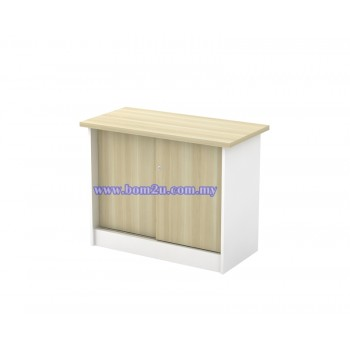 B-YS 303 Melamine Woodgrain Sliding Door Side Cabinet With Lock