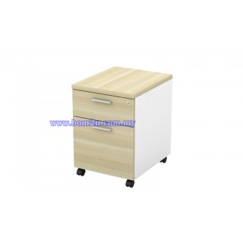 B-YM 2 Melamine Woodgrain 1D+1F Mobile Pedestal With Lock