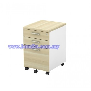 B-YMP 3 Melamine Woodgrain 2D+1F Mobile Pedestal With Lock