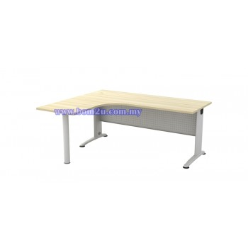 BL-1515/1815-M Melamine Woodgrain L-shape Superior Compact Table