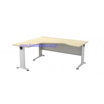 BL-44 Melamine Woodgrain 6' Executive L-Shape Writing Table With Curve