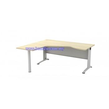 BL-44-M Melamine Woodgrain 6' Executive L-Shape Writing Table With Curve