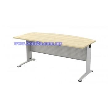 BMB-180A Melamine Woodgrain 6' D-Shape Executive Table