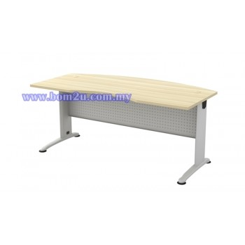 BMB-55 Melamine Woodgrain 6' D-Shape Curve Executive Table