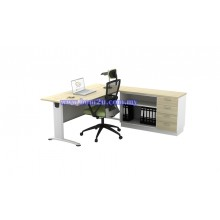 [BT 188-SET] Melamine Woodgrain 6' Rectangular Executive Writing Table Set
