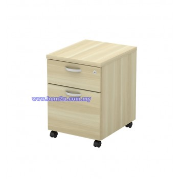 Q-YM 2 Fully Woodgrain 1D+1F Mobile Pedestal With Lock