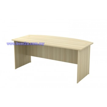 EXMB-180A Fully Woodgrain 6' D-Shape Executive Table