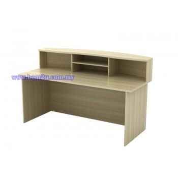 EXCT 1800/2100 Fully Woodgrain Executive Reception Counter