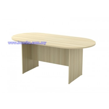 EX Series Fully Woodgrain Oval Shape Conference Table