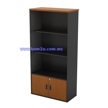 GB 741 Melamine Woodgrain Semi Swinging Door Medium Cabinet