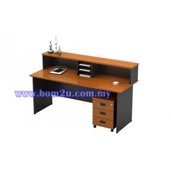 G-Series Melamine Woodgrain Reception Counter Set