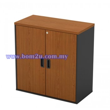 GD 880 Melamine Woodgrain Swing Door Low Cabinet With Lock