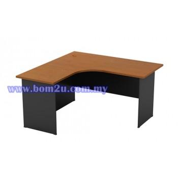 GL-1515 Melamine Woodgrain L-shape Writing Table