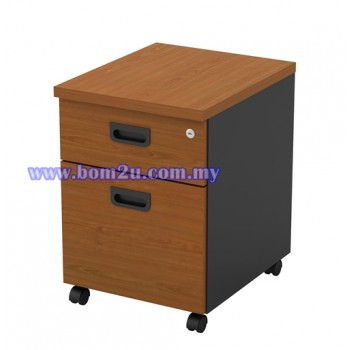 GM 2 Melamine Woodgrain 1D+1F Mobile Pedestal With Lock