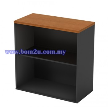 GO 880 Melamine Woodgrain Low Open Shelf Cabinet