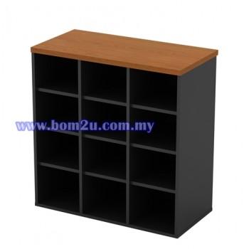 GP 880 Melamine Woodgrain 12 Pigeon Hole Cabinet