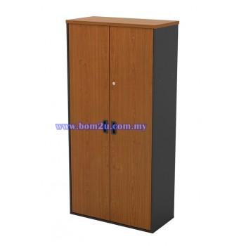 GW 747 Melamine Woodgrain Swinging Door Medium Cabinet With Lock