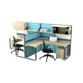 O-Series Cluster Of 2 Seater Workstation (L-shape)