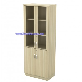Q-OGD 720/920 Fully Woodgrain 5 Levels Swinging Glass Door High Cabinet