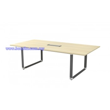 OVB 18/24 Melamine Woodgrain Rectangular Shape Conference Table With O-Leg
