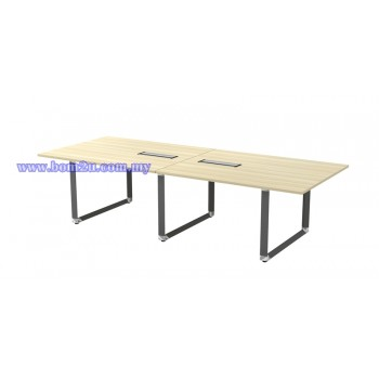 OVB 30/36 Melamine Woodgrain Rectangular Shape Conference Table With O-Leg