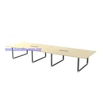OVB-48 Melamine Woodgrain Rectangular Shape Conference Table With O-Leg