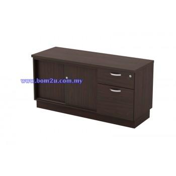 Q-YSP 6122/6123 Fully Woodgrain Sliding Door + Fixed Pedestal Director Side Cabinet