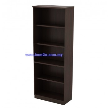 Q-YO 21 Fully Woodgrain 5 Levels Open Shelf High Cabinet