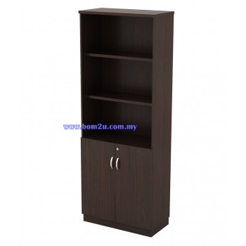 Q-YOD 21 Fully Woodgrain 5 Levels Semi Swinging Door High Cabinet With Lock
