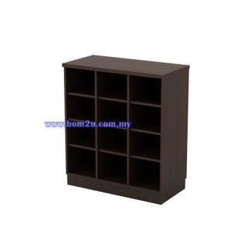 Q-YP 9 Fully Woodgrain Pigeon Hole Low Cabinet