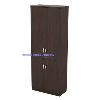 Q-YTD 21 Fully Woodgrain 5 Levels Swinging Door High Cabinet With Lock