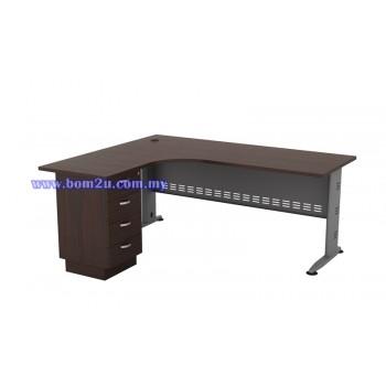 QL-1515/1815-4D Melamine Woodgrain L-shape Superior Compact Table